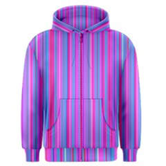 Blue And Pink Stripes Men s Zipper Hoodie by Nexatart