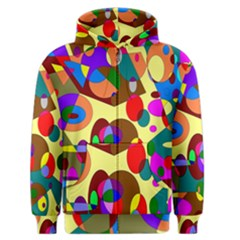 Abstract Digital Circle Computer Graphic Men s Zipper Hoodie by Nexatart