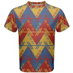 Aztec Traditional Ethnic Pattern Men s Cotton Tee by Nexatart