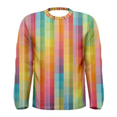 Background Colorful Abstract Men s Long Sleeve Tee by Nexatart