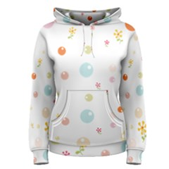 Flower Floral Star Balloon Bubble Women s Pullover Hoodie by Mariart