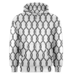 Iron Wire Black White Men s Zipper Hoodie by Mariart