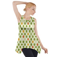 Merry Christmas Polka Dot Circle Snow Tree Green Orange Red Gray Side Drop Tank Tunic by Mariart