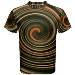 Strudel Spiral Eddy Background Men s Cotton Tee by Nexatart