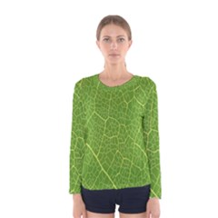 Green Leaf Line Women s Long Sleeve Tee by Mariart