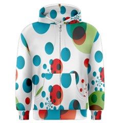 Polka Dot Circle Red Blue Green Men s Zipper Hoodie by Mariart