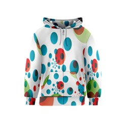 Polka Dot Circle Red Blue Green Kids  Zipper Hoodie by Mariart