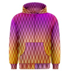 Triangle Plaid Chevron Wave Pink Purple Yellow Rainbow Men s Zipper Hoodie by Mariart