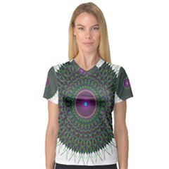 Pattern District Background Women s V-neck Sport Mesh Tee