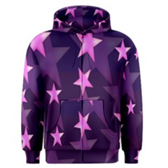 Background With A Stars Men s Zipper Hoodie by Nexatart