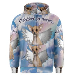 Angel Chihuahua Men s Zipper Hoodie by Valentinaart