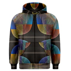 Black Cross With Color Map Fractal Image Of Black Cross With Color Map Men s Zipper Hoodie by Nexatart