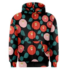 Candy Sugar Red Pink Blue Black Circle Men s Zipper Hoodie by Mariart
