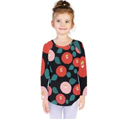 Candy Sugar Red Pink Blue Black Circle Kids  Long Sleeve Tee by Mariart