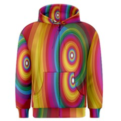 Circle Rainbow Color Hole Rasta Men s Zipper Hoodie by Mariart