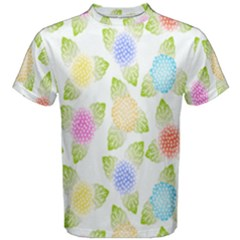 Fruit Grapes Purple Yellow Blue Pink Rainbow Leaf Green Men s Cotton Tee by Mariart