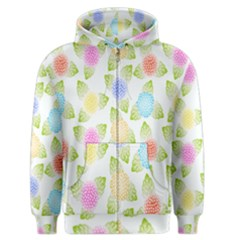 Fruit Grapes Purple Yellow Blue Pink Rainbow Leaf Green Men s Zipper Hoodie by Mariart