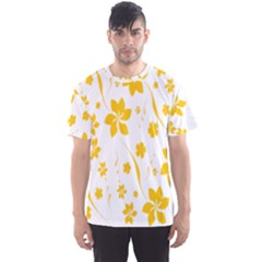 Shamrock Yellow Star Flower Floral Star Men s Sport Mesh Tee by Mariart