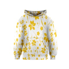 Shamrock Yellow Star Flower Floral Star Kids  Pullover Hoodie by Mariart