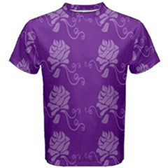 Purple Flower Rose Sunflower Men s Cotton Tee by Mariart