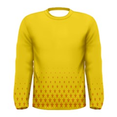 Yellow Star Light Space Men s Long Sleeve Tee by Mariart