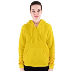 Yellow Star Light Space Women s Zipper Hoodie by Mariart