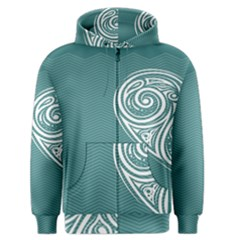 Line Wave Chevron Star Blue Love Heart Sea Beach Men s Zipper Hoodie by Mariart