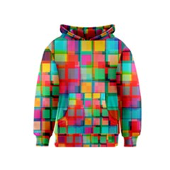 Plaid Line Color Rainbow Red Orange Blue Chevron Kids  Pullover Hoodie by Mariart