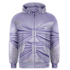 Ribbon Purple Sexy Men s Zipper Hoodie by Mariart