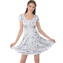 Musical Notes Song Cap Sleeve Dresses by Mariart