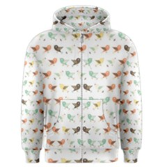 Assorted Birds Pattern Men s Zipper Hoodie by linceazul
