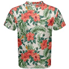 Palm Tropical Flower Men s Cotton Tee