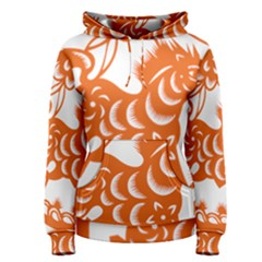 Chinese Zodiac Horoscope Horse Zhorse Star Orangeicon Women s Pullover Hoodie by Mariart