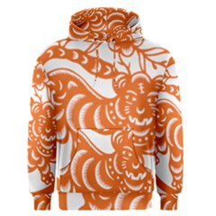 Chinese Zodiac Signs Tiger Star Orangehoroscope Men s Pullover Hoodie by Mariart