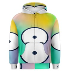 Illustrated Circle Round Polka Rainbow Men s Zipper Hoodie by Mariart