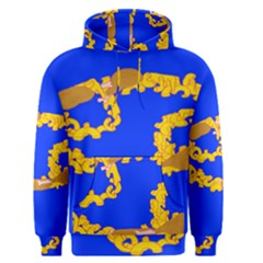 Illustrated 69 Blue Yellow Star Zodiac Men s Pullover Hoodie by Mariart