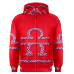 Illustrated Zodiac Red Purple Star Polka Men s Zipper Hoodie by Mariart