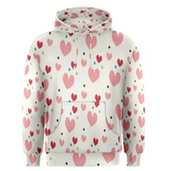 Love Heart Pink Polka Valentine Red Black Green White Men s Pullover Hoodie by Mariart