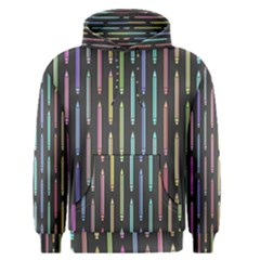 Pencil Stationery Rainbow Vertical Color Men s Pullover Hoodie by Mariart