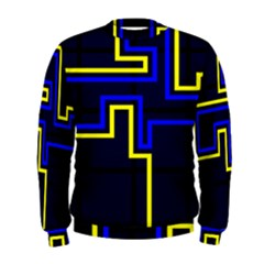 Tron Light Walls Arcade Style Line Yellow Blue Men s Sweatshirt by Mariart