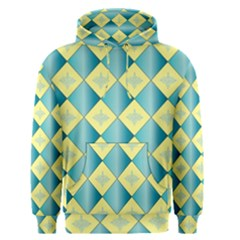 Yellow Blue Diamond Chevron Wave Men s Pullover Hoodie by Mariart
