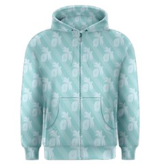 Christmas Day Ribbon Blue Men s Zipper Hoodie by Mariart