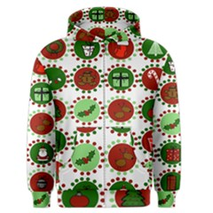 Christmas Men s Zipper Hoodie by Mariart