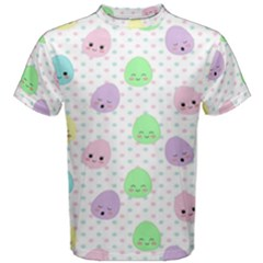 Egg Easter Smile Face Cute Babby Kids Dot Polka Rainbow Men s Cotton Tee by Mariart