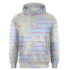 Flower Floral Sunflower Line Horizontal Pink White Blue Men s Pullover Hoodie by Mariart