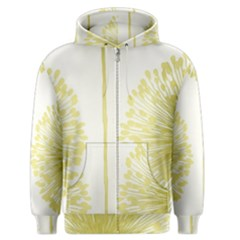 Flower Floral Yellow Men s Zipper Hoodie by Mariart