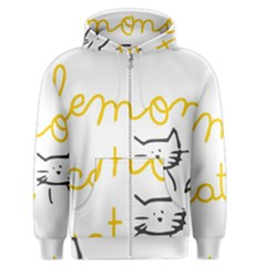 Lemon Animals Cat Orange Men s Zipper Hoodie by Mariart