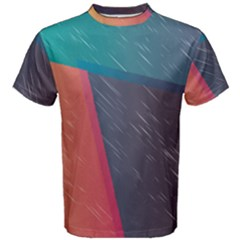 Modern Minimalist Abstract Colorful Vintage Adobe Illustrator Blue Red Orange Pink Purple Rainbow Men s Cotton Tee by Mariart