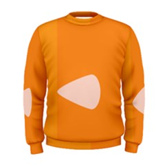 Screen Shot Circle Animations Orange White Line Color Men s Sweatshirt by Mariart