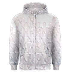 Seamless Horizontal Modern Stylish Repeating Geometric Shapes Rose Quartz Men s Zipper Hoodie by Mariart
